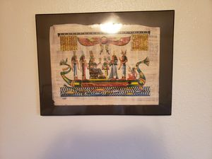 Framed Egyptian parchment for Sale in Lincoln, NE
