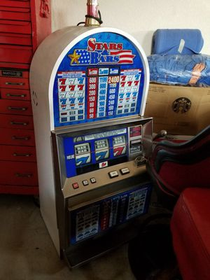 Vegas casino slot machines, black jack tables, chairs and stools for Sale in Cypress, CA