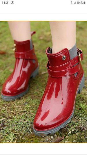 Casual PVC Buckle Rain Boots Size 7.5 for Sale in Oak Park, IL