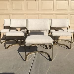 Mid Century Brass Dinning Chair Set for Sale in Los Angeles, CA