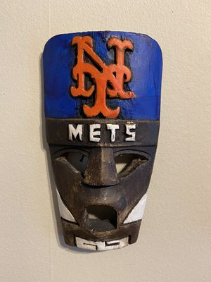 New York Mets. Hand carved Aztec warrior. Hand made and hand painted for Sale in Mamaroneck, NY