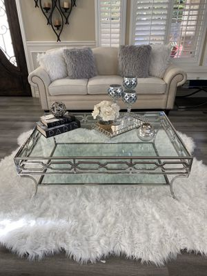 Glass coffee table, Z gallerie inspired | New in box for Sale in Rancho Cucamonga, CA