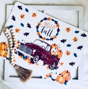 Farmhouse Fall Red Truck Placemat s Set of 4 for Sale in Tampa, FL