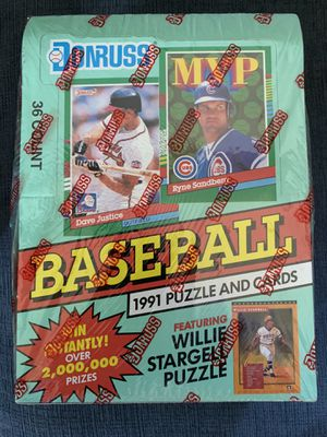 DONRUSS Baseball Card Box Sealed from 1991 Series 2 for Sale in Chino, CA
