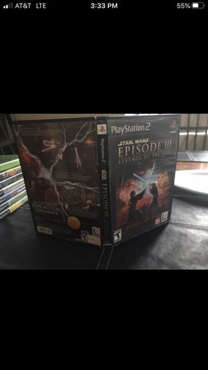 """Star Wars Episode 3 PS2 Game """"Case and Manual Only"""" for Sale in Oakland Park, FL"""