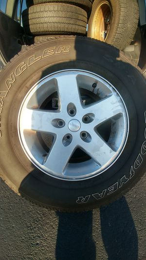 Jeep wrangler wheels for Sale in Johnston, RI