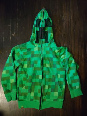 Minecraft hoodie jacket sweater Jinx child's size XS 4/5 creeper for Sale in West Covina, CA