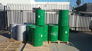 Mint condition Food Grade no chemical 55 gallons metal drums $15each for Sale in Alhambra, CA