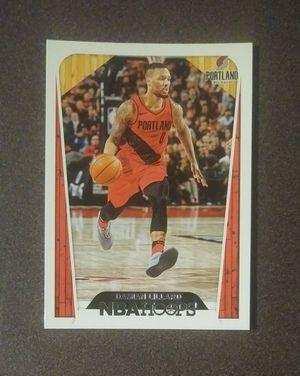 2018-19 Panini Damian Lillard Portland Trail Blazers #284 NBA Hoops Basketball Card Collectible Sports for Sale in Salem, OH