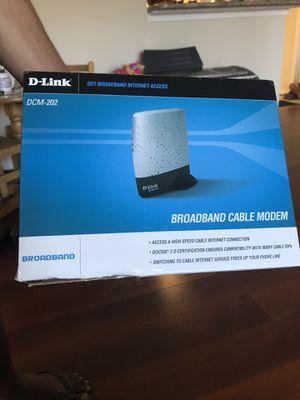 Dlink broadband cable modem for Sale in Herndon, VA