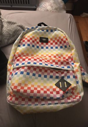 Rainbow vans book bag for Sale in Boston, MA
