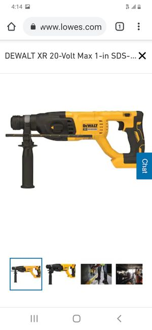 "Dewalt xr brushless 1"" sds rotary hammer ( tool only ) missing the measuring rod for Sale in San Jose, CA"