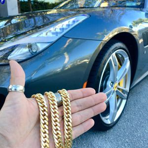 DOUBLE CUBAN LINK CHAIN 18K GOLD MADE IN ITALY for Sale in Miami, FL