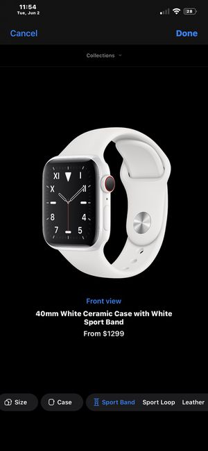 Ceramic White Apple Watch Series 5 40mm for Sale in Fairfax, VA