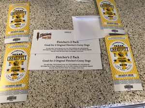 4 Fair tickets and 4 fletcher's corny dogs for Sale in Fort Worth, TX