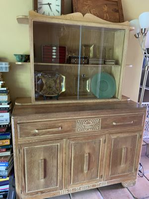 Antique Oak China Cabinet for Sale in Hollywood, FL