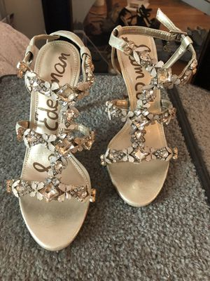 Sam Edelman gold crystal heels size 7 for Sale in Los Angeles, CA