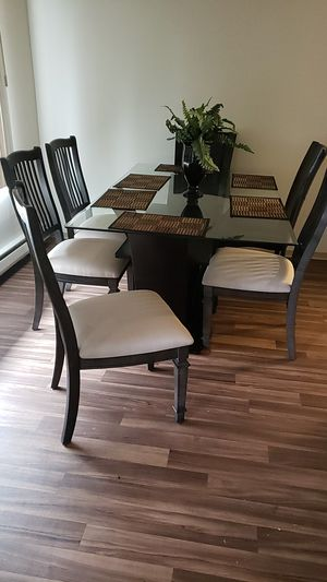Glass table and chairs for Sale in Seattle, WA