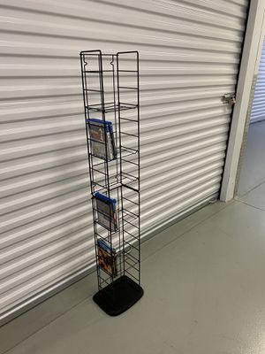Atlantic Adjustable Wire Media Rack for DVDs, CDs, Video Games for Sale in Montgomeryville, PA