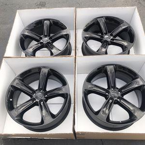 "20"" oem Dodge Challenger factory wheels 20 inch gloss black rims Challenger for Sale in Santa Ana, CA"
