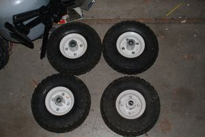 Pneumatic Hand Cart/Wagon Wheels (4x) for Sale in Hillsboro, OR