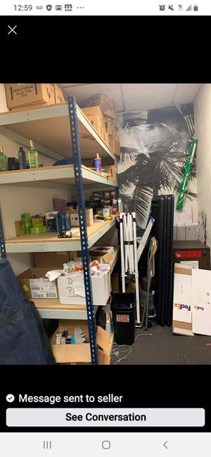 XXL Very Strong Metal Shelving Unit with durable Press Wood Shelving Boards! 7ft tall x 6ft wide x 2ft deep! Five levels for Sale in Grand Prairie, TX