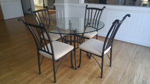 Beautiful Glass Dining Table and 4 Chairs for Sale in Herndon, VA