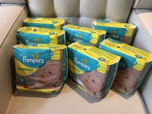 Pampers Swaddlers size newborn for Sale in Sherwood, OR