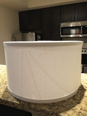 40cm/16in white drum lampshade for Sale in Washington, DC