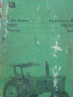 Manual for John Deer 4320 for Sale in Valparaiso,  IN