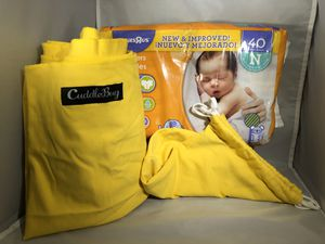 CuddleBug Baby Carrier /Swaddle (& Diapers) for Sale in Simi Valley, CA