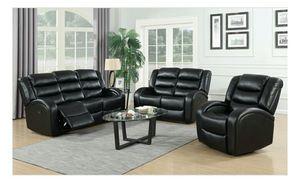 Oniks Black Reclining Sofa & Loveseat | U9400 for Sale in Elkridge, MD