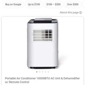 Portable Air Conditioner 10000 BTU and Dehumidifier with Remote for Sale in Bakersfield, CA