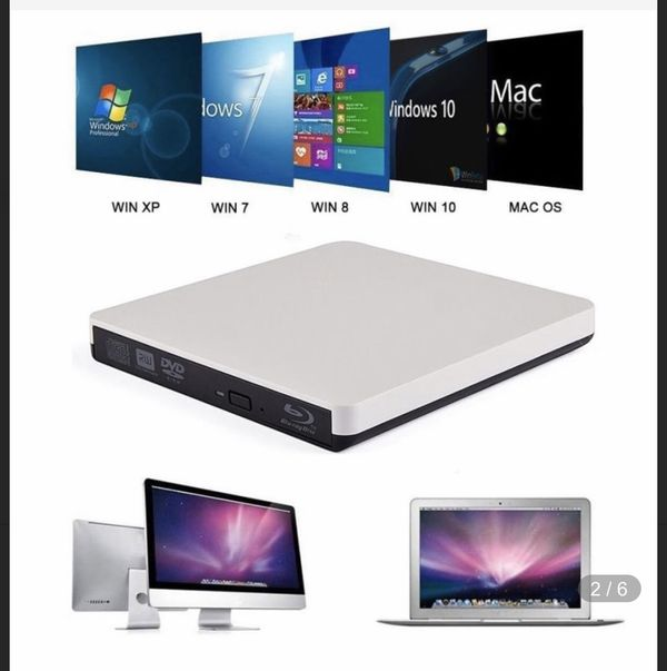 USB3.0 Bluray Drive External CD/DVD RW Burner BD-ROM Blu-ray Player Optical Drive Writer for Apple iMacbook Laptop Toshiba pc