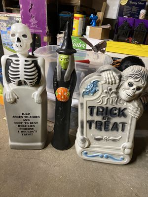 Halloween Blow Molds - set of 3 for Sale in Algonquin, IL