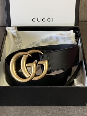 Double G gold brass buckle Gucci belt for Sale in Brooklyn, NY