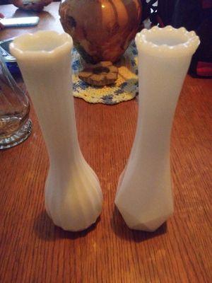 Milk glass vases for Sale in Highland, CA