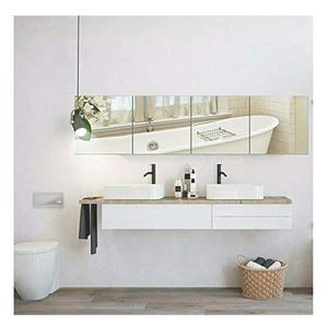 EDGEWOOD Parkwood Wall Mirrors Flexible Real Glass Flat Frameless 4-Piece Set, 14x14 Inches for Sale in Corona, CA