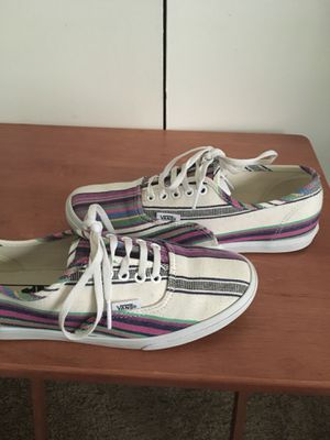Women Stripe lace up Vans for Sale in Beaumont, TX