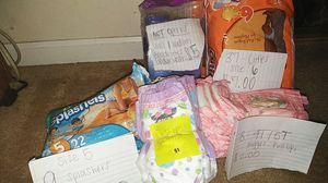 Pull ups, diapers, goodnight underwear for Sale in Smyrna, TN