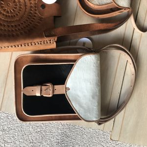 New leather purse black and brown 8 1/2 x 11 new condition for Sale in Brea, CA