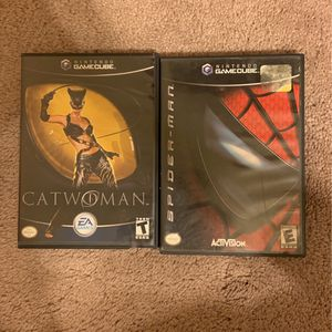 Cat woman and spider man gc games for Sale in Cypress, TX