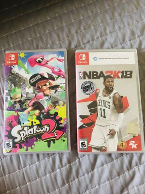 Nintendo Switch Games Splatoon 2 and NBA 2k 18 READ DESCRIPTION! for Sale in Scottsdale, AZ