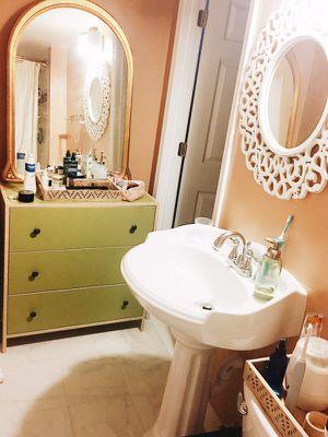 Gold antique mirror for Sale in Burke, VA
