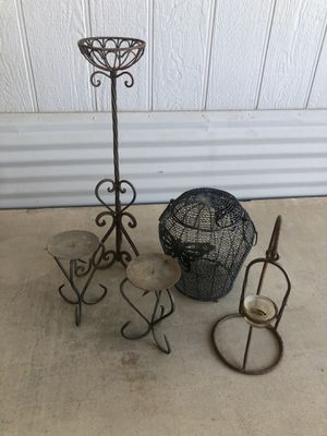 Wrought iron candle holders for Sale in Glendale, AZ