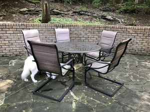 Free - 5 heavyweight patio sling chairs for Sale in Brentwood, TN