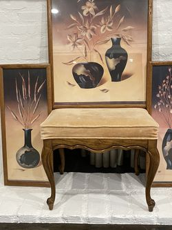 Vintage 3 Piece Picture And Vanity Stool for Sale in La Habra,  CA