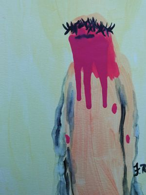 ORIGINAL ABSTRACT HAND PAINTED WATERCOLOR JESUS ART for Sale in Orlando, FL