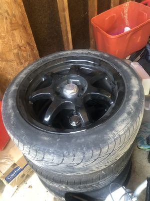 4 lug rims and tires for Sale in Westerville, OH