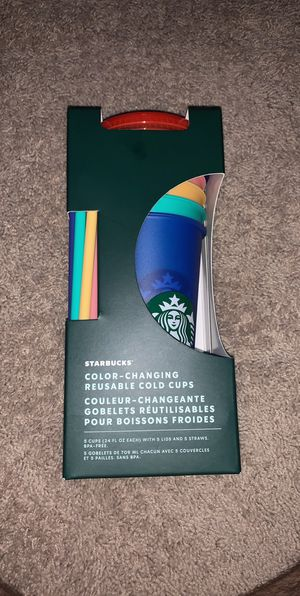 Starbucks Color Changing Reusable Cold Cups for Sale in Woodbridge, VA